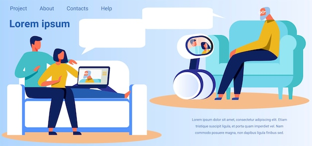 Landing page advertises technology for video calls