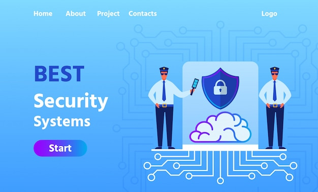 Landing page advertising best security system