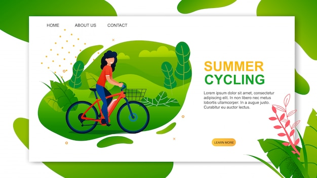 Landing page advertising best summer cycling offer