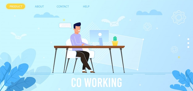Landing page advertising co working advantages