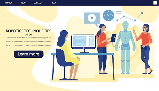 Landing page advertising modern scientific lab