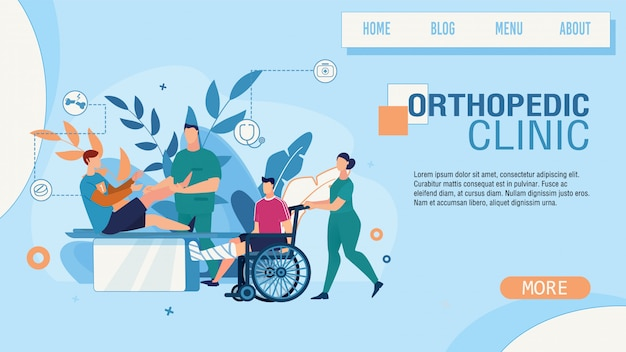 Landing page advertising orthopedic clinic service