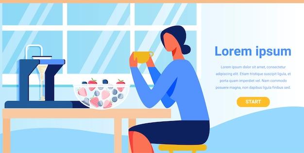 Landing page advertising smart kitchen appliances