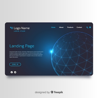 Landing page background