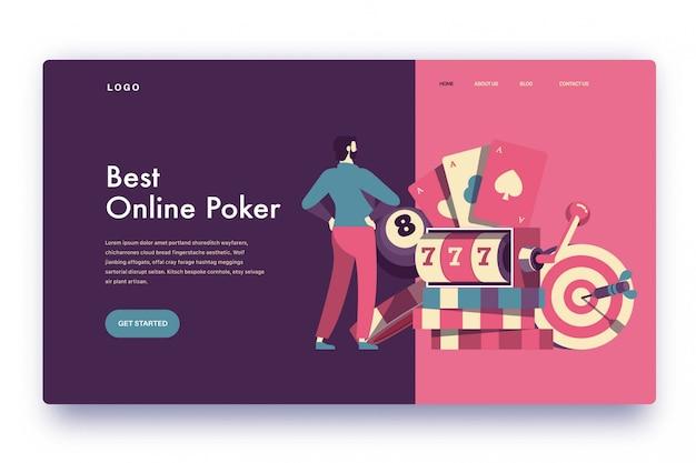 Landing page лучший онлайн покер