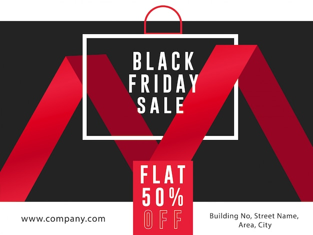 Landing page black friday sale ad banner flyer template