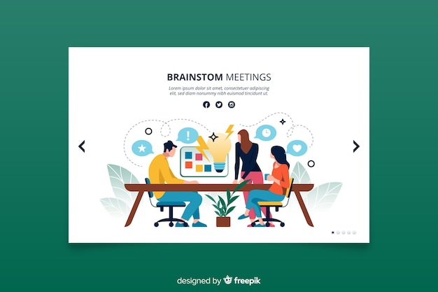 Landing page brainstorming concept