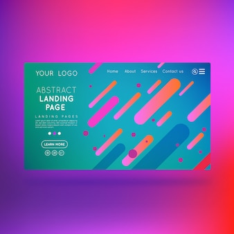 Landing page business abstract design