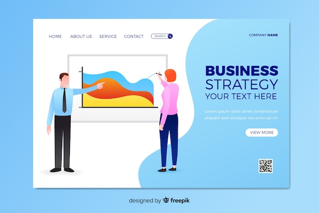 Landing page business approach