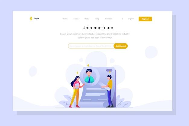 ランディングページビジネスファイナンスの雇用主検索ワーカーの発表拡大鏡のアウトラインスタイル