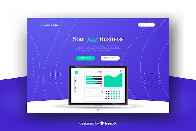 Landing page business startup