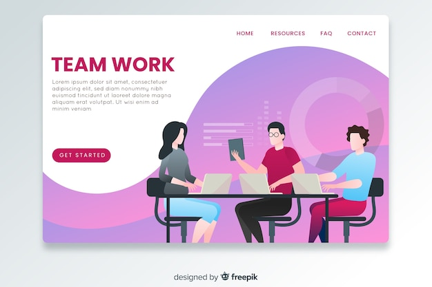 Landing page business template
