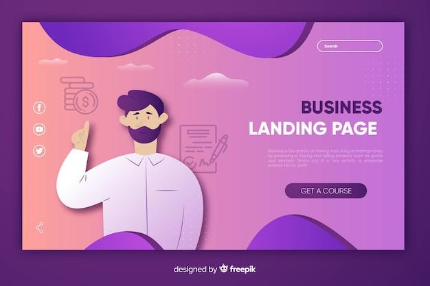 Бизнес-шаблон целевой страницы