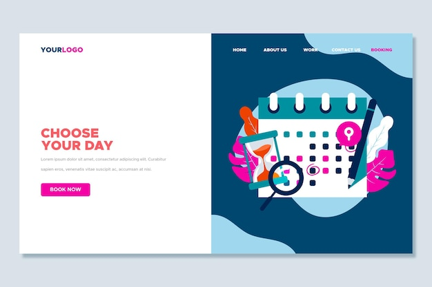 Landing page of choose your day appointment booking