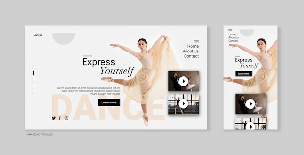 Landing page for classic dancer