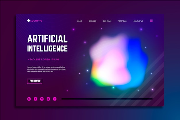 Landing page colorful delusion abstract