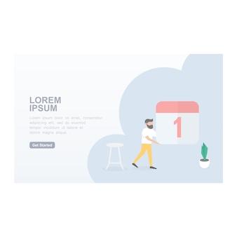 現代のウェブサイトのランディングページのコンセプト