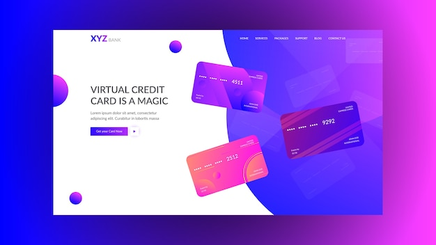 Landing page concept for modern banks & startups