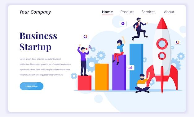 起業のランディングページのコンセプト。