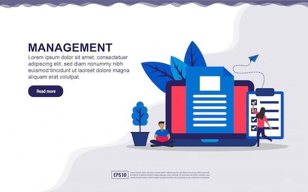 Целевая страница концепции управления.