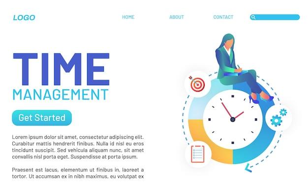 회사에서 시간 관리의 방문 페이지 개념