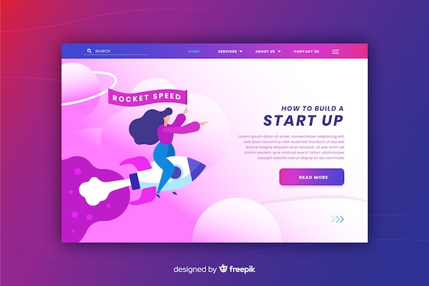 Landing page concept for start up