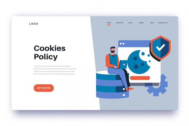 Landing page cookies policy