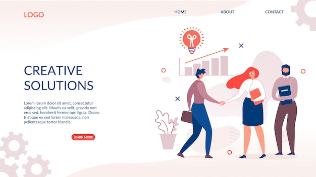 Landing page for creative and innovative solution