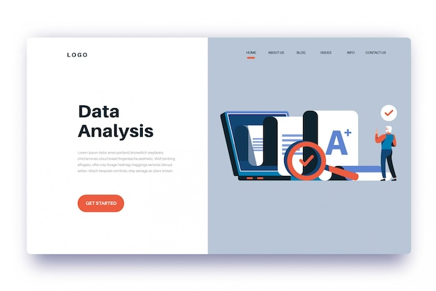Landing page data analysis
