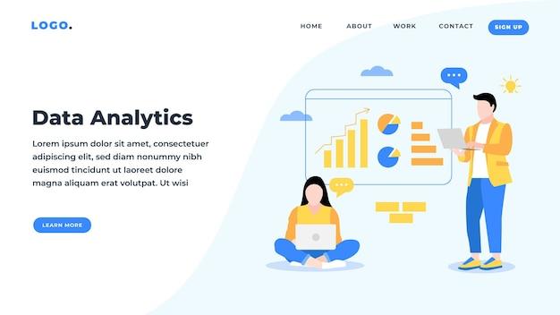 Landing page data analytics