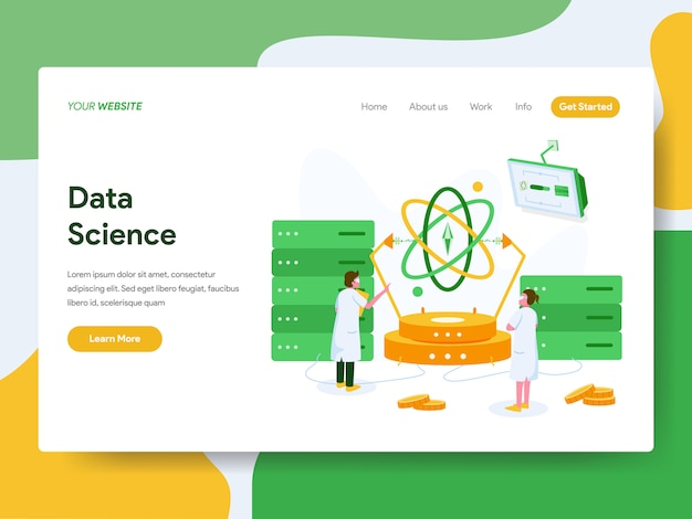 Landing page. data science illustration concept