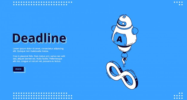 Landing page of deadline with chat bot