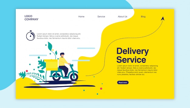 Landing page delivery service