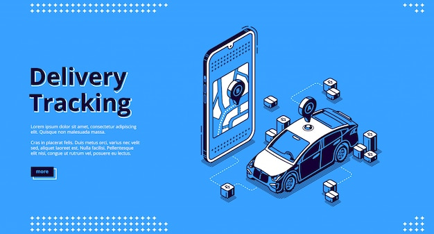 Landing page of delivery tracking service