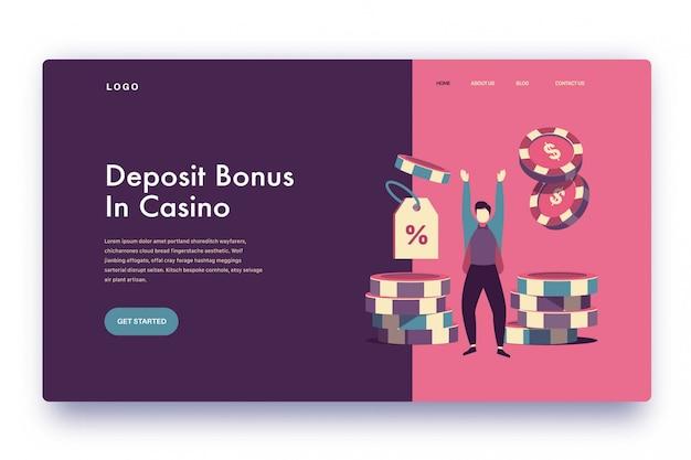 Landing page deposit bonus in casino