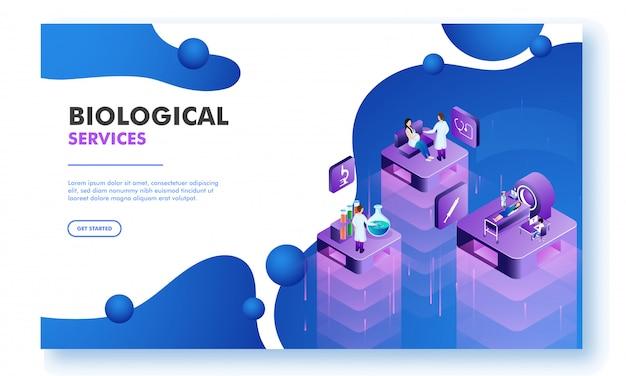 Landing page design for biological science