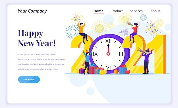 Концепция дизайна целевой страницы с новым годом