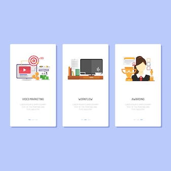Landing page design | marketing, workflow and awarding