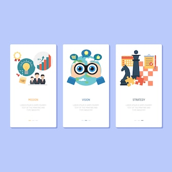 Landing page design - mission, vision and strategy
