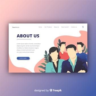 Landing page design. mocksite