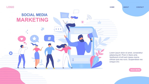 Landing page design for social media marketing