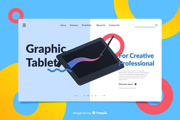 Landing page design for tablets