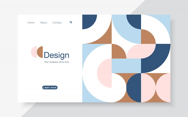 Landing page design template,