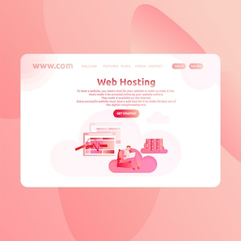 Landing page design web hosting