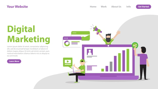 Landing page digital marketing