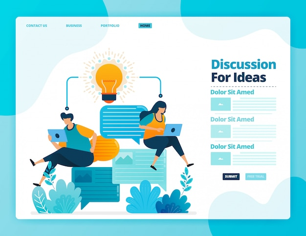 Landing page   of discussion for ideas.
