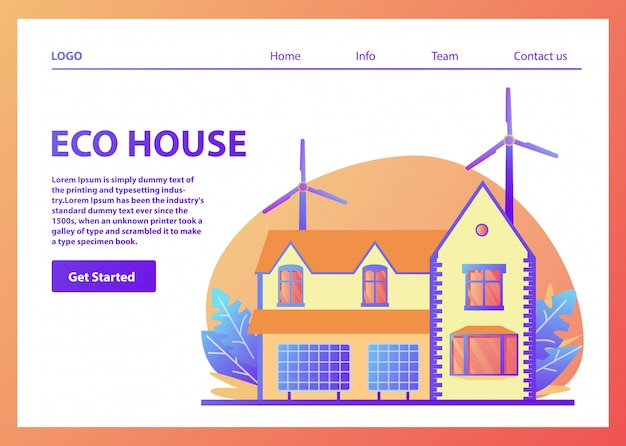 Landing page of eco house