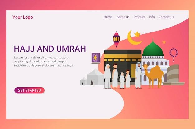 Landing page eid adha mubarak design concept