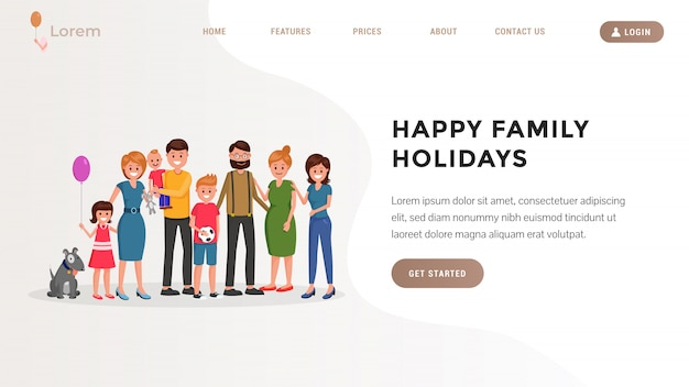 Landing page. family jaunt flat