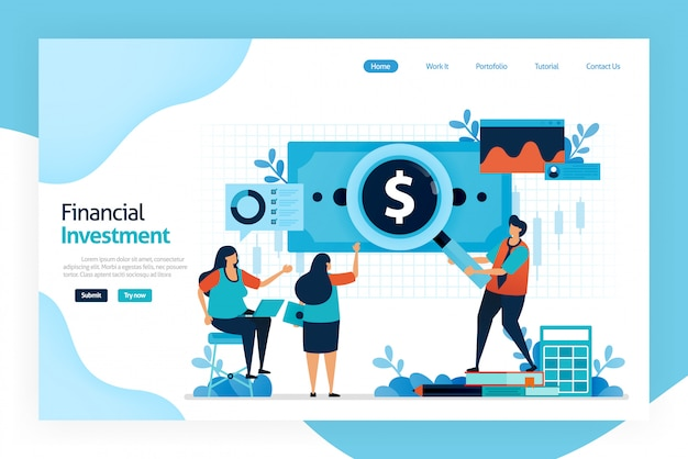 Landing page of financial investment